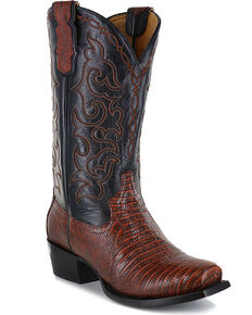 Moonshine Spirit Men's Louisiana Lizard Exotic Boots - Snip Toe, Brown, hi-res