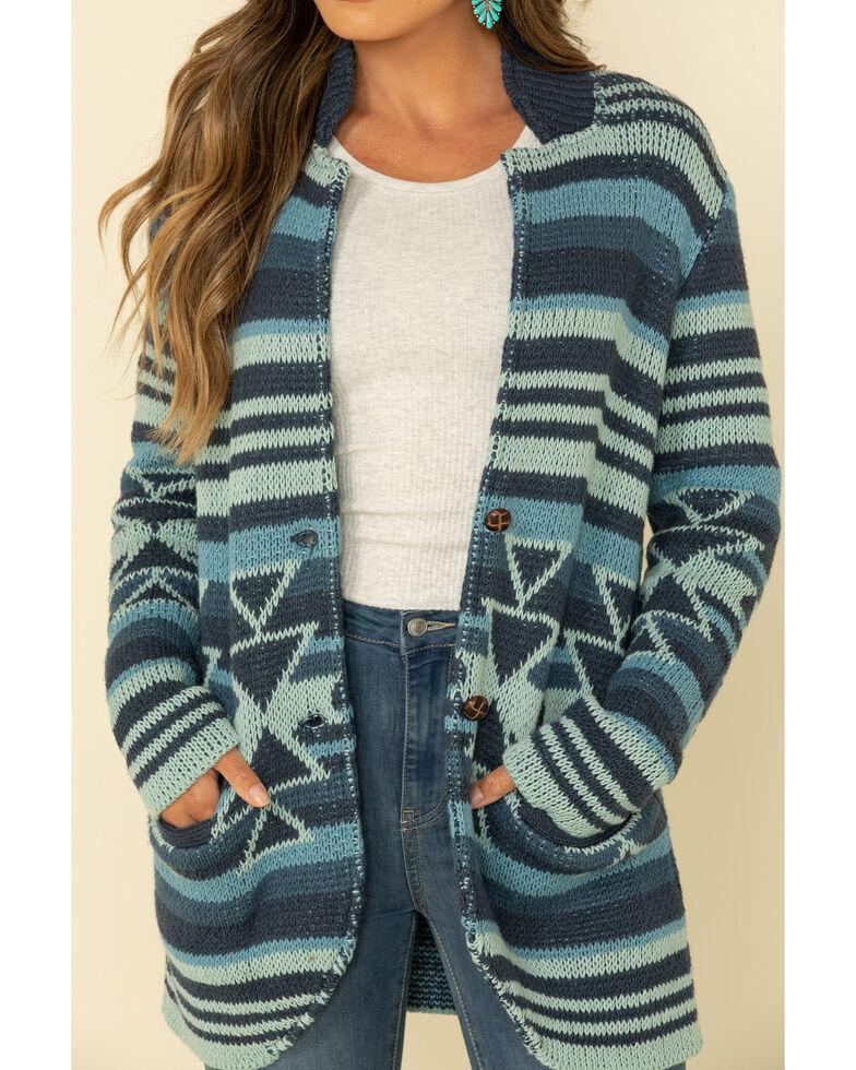 Tasha Polizzi Women's Indigo Valley Serape Sweater Blazer , Indigo, hi-res