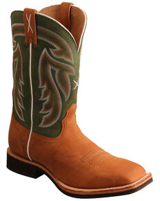 Twisted X Men's Horseman Western Boots - Wide Square Toe, Tan, hi-res