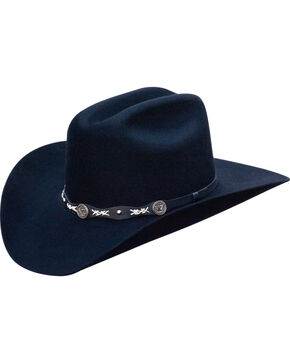 Jack Daniels Men's Structured Wool Western Hat  , Black, hi-res