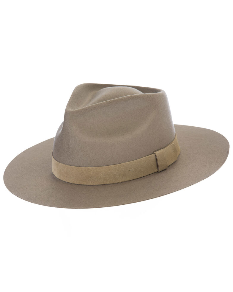 Black Creek Tan Crushable Western Wool Felt Hat , Tan, hi-res