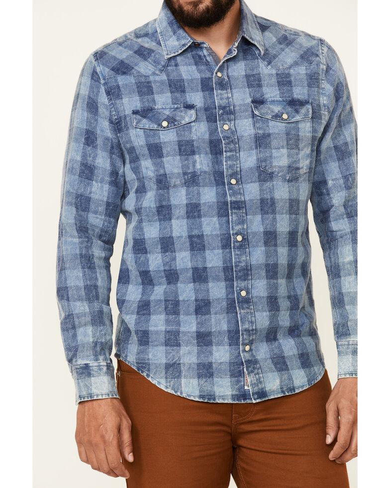 Flag & Anthem Men's McLennan Blue Vintage Plaid Long Sleeve Snap Western Shirt , Blue, hi-res