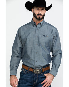 Ariat Men's Talent Solid Long Sleeve Western Shirt , Black, hi-res