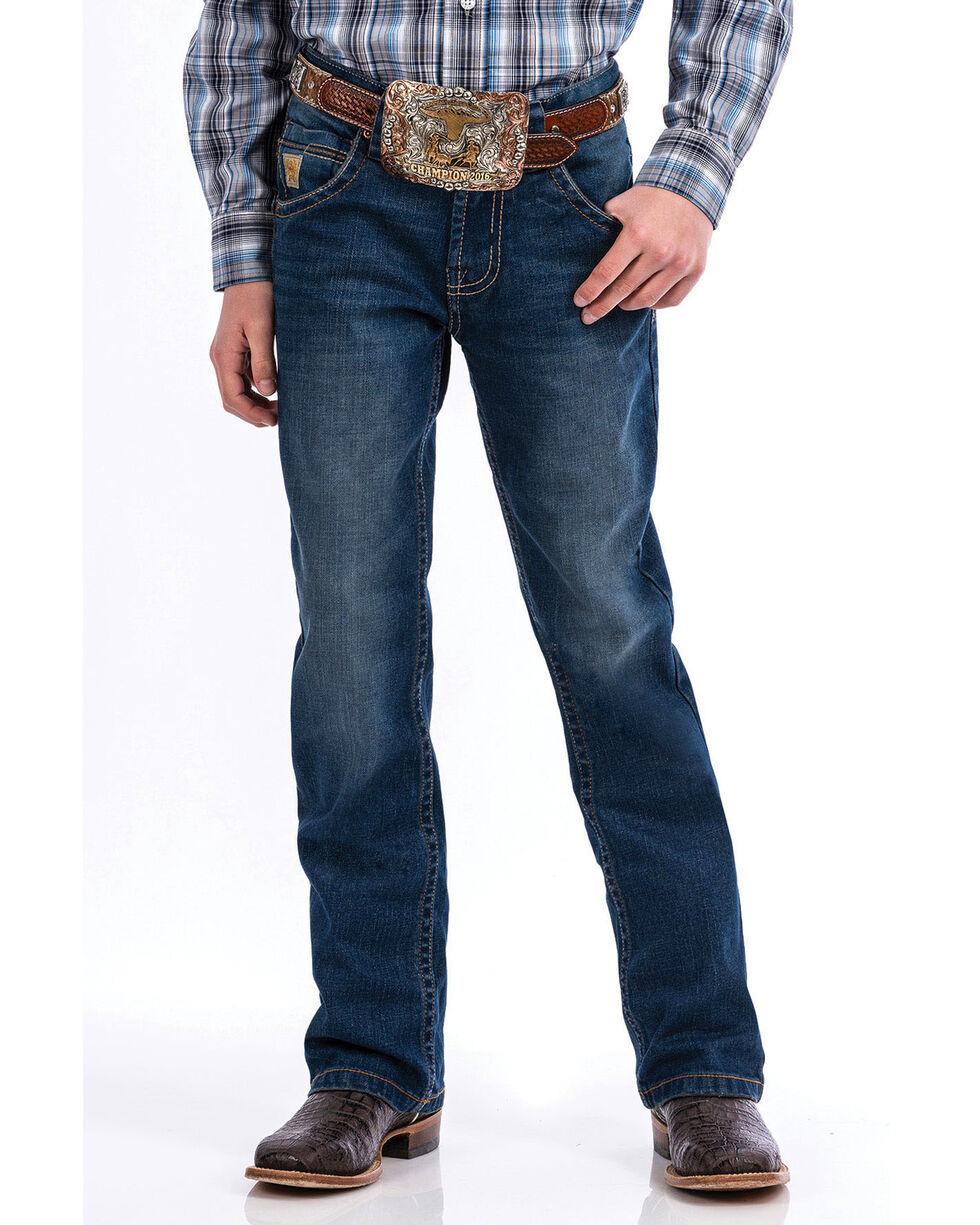 Cinch Boys' Medium Slim Boot Cut Jeans , Indigo, hi-res
