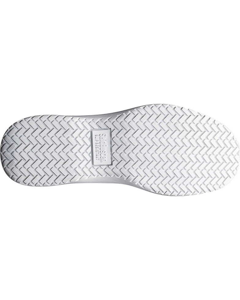 SkidBuster Women's Slip Resistant Athletic Work Shoes, White, hi-res