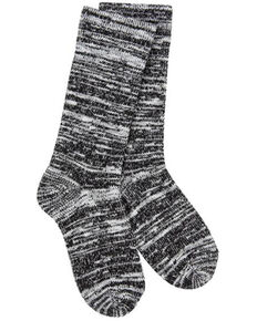 World's Softest Women's Weekend Light Slub Crew Socks, Black, hi-res