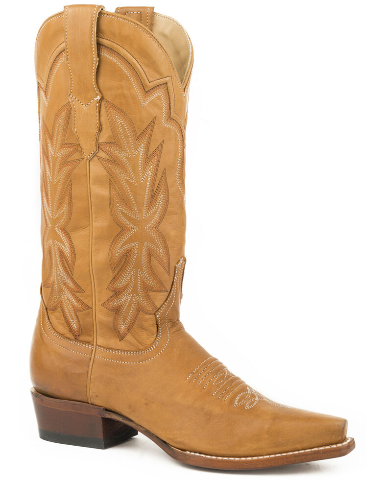 Stetson Women's Tan Casey Leather Boots - Snip Toe , Brown, hi-res