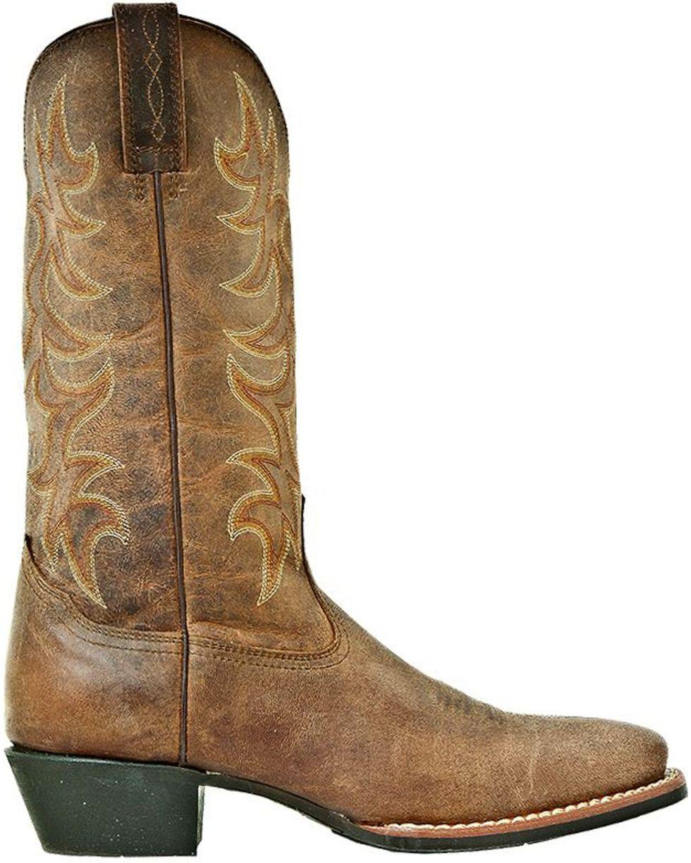 Laredo Goatskin Leather Cowboy Boots - Square Toe, Tan, hi-res