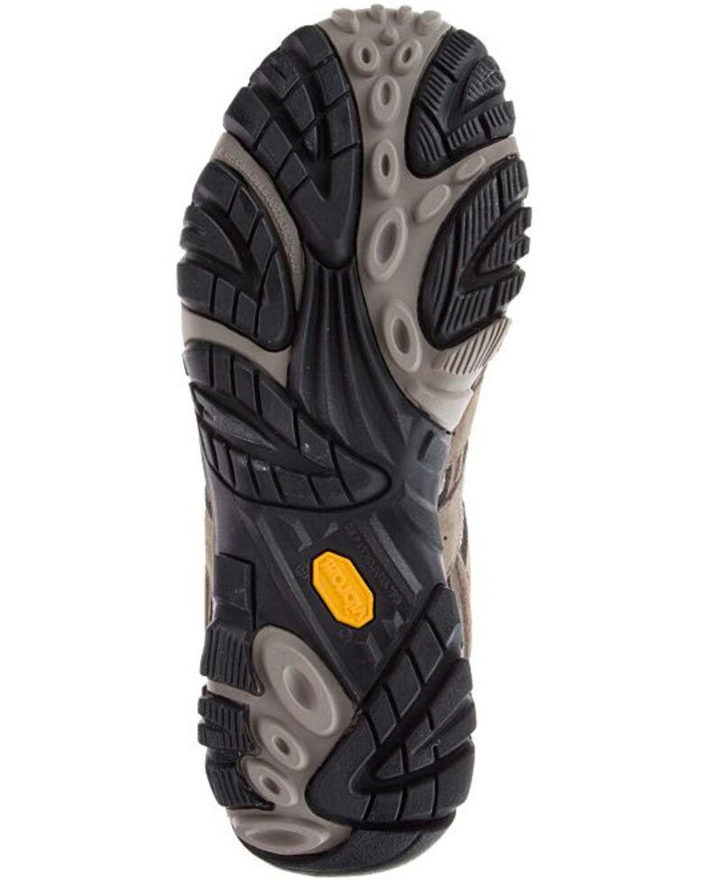 Merrell Men's Moab Waterproof Hiking Boots - Soft Toe, Dark Brown, hi-res