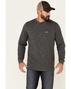 Pendleton Men's Dark Heather Grey Deschutes Long Sleeve Pocket T-Shirt , Heather Grey, hi-res
