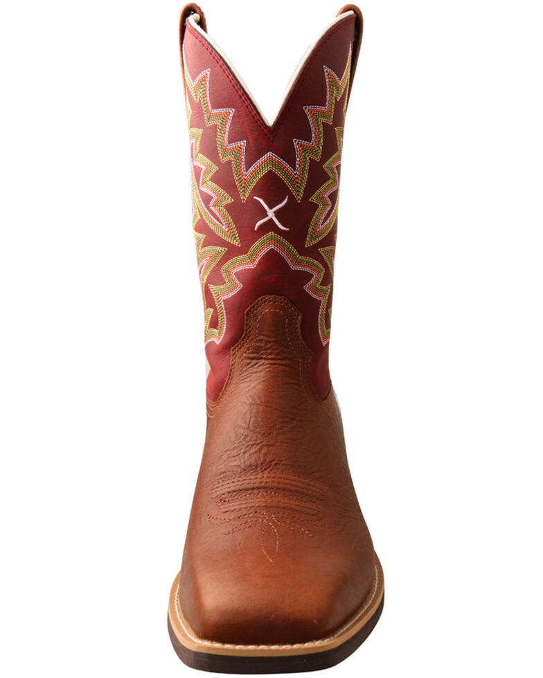 Twisted X Men's Top Hand Western Boots - Wide Square Toe, Brown, hi-res