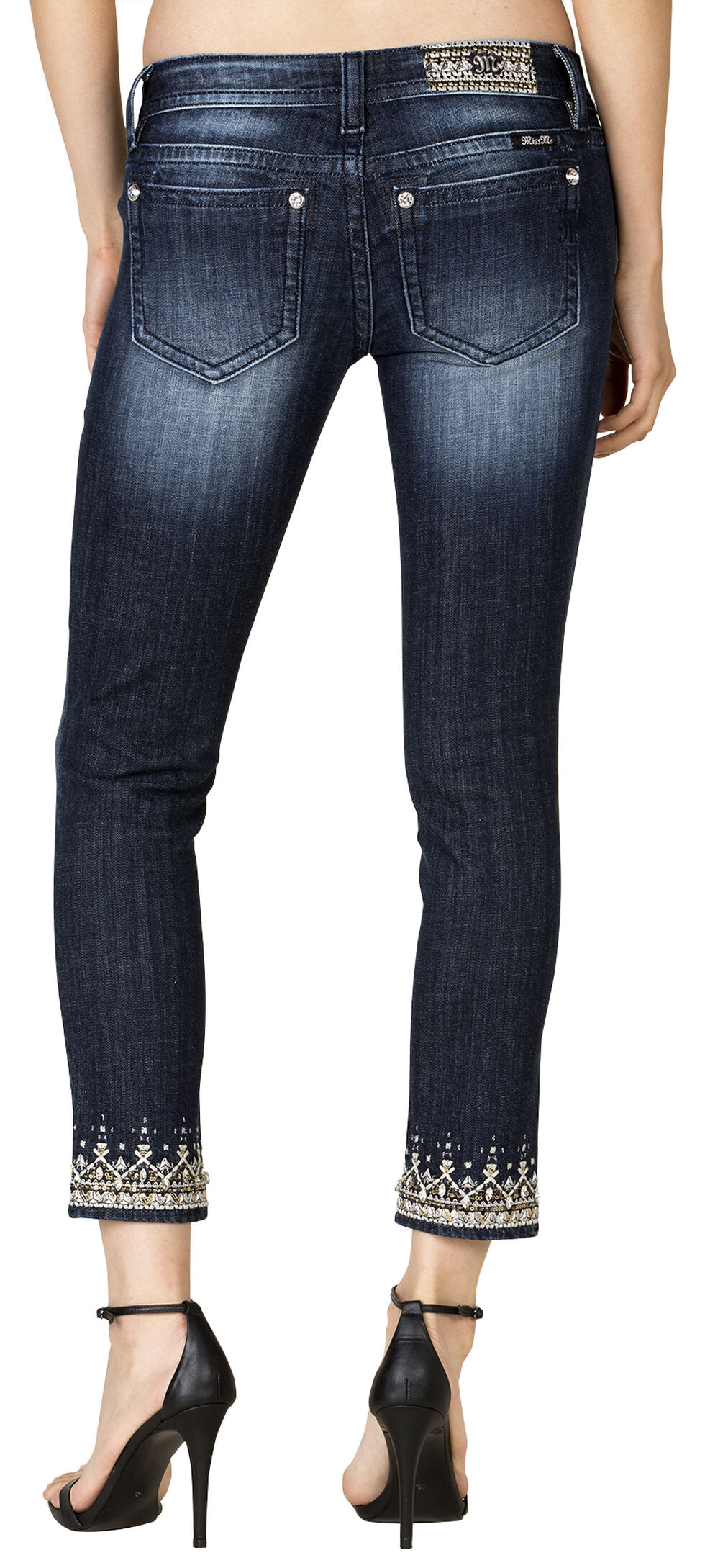 Miss Me Women's Regal Realness Ankle Skinny Jeans, Blue, hi-res