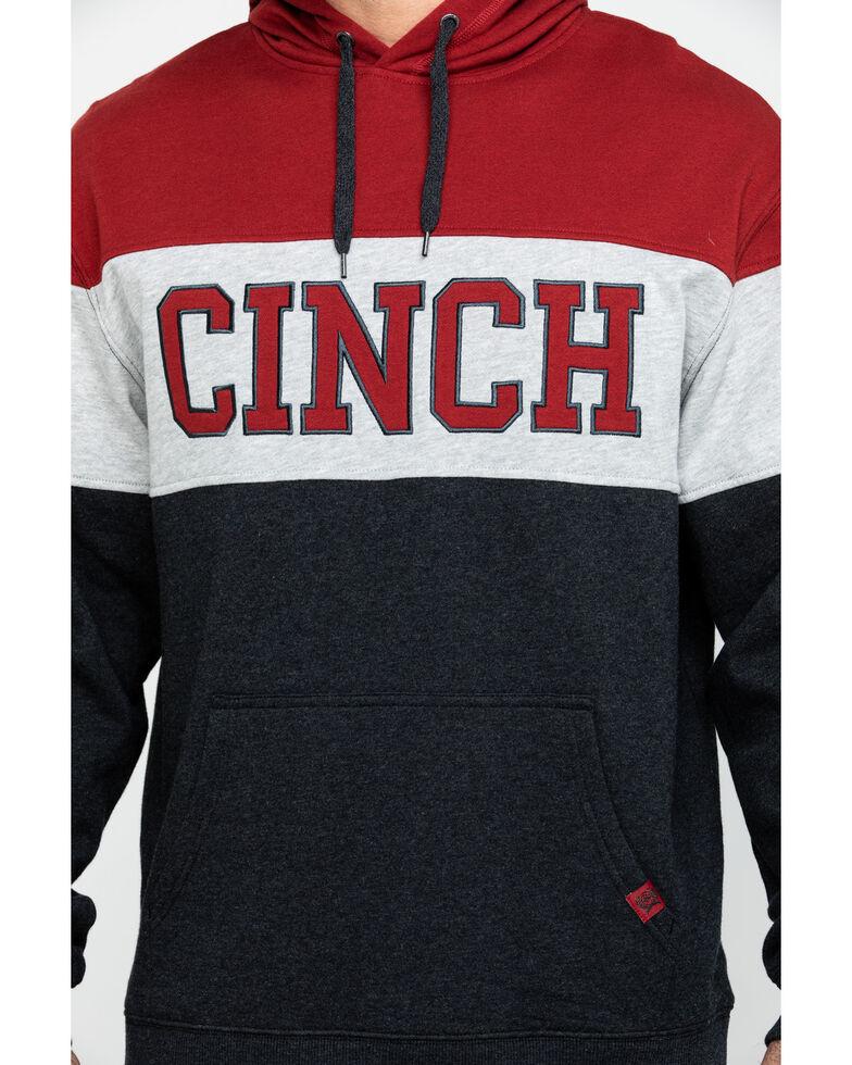 Cinch Men's Color Blocked Fleece Hooded Sweatshirt, Black, hi-res