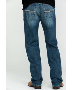Cinch Men's Grant Medium Stonewash Mid Relaxed Bootcut Jeans , Indigo, hi-res
