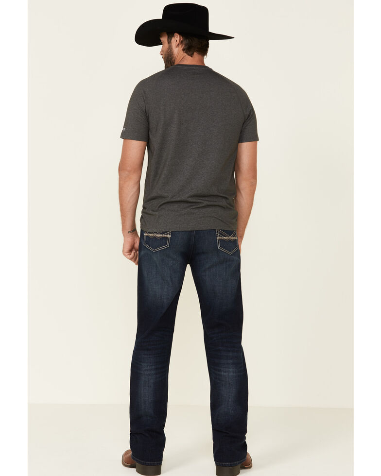 Wrangler 20X Men's No. 33 Spur Dark Stretch Extreme Relaxed Straight Jeans , Blue, hi-res