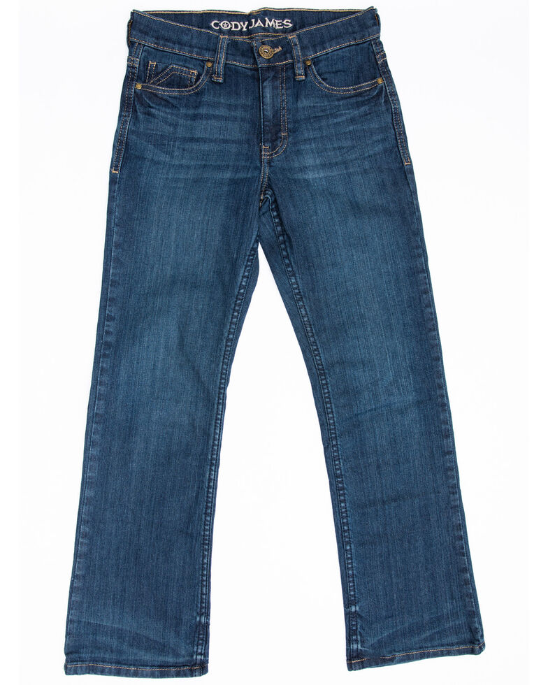 Cody James Boys' 8-20 Saguaro Dark Stretch Relaxed Straight Jeans , Blue, hi-res