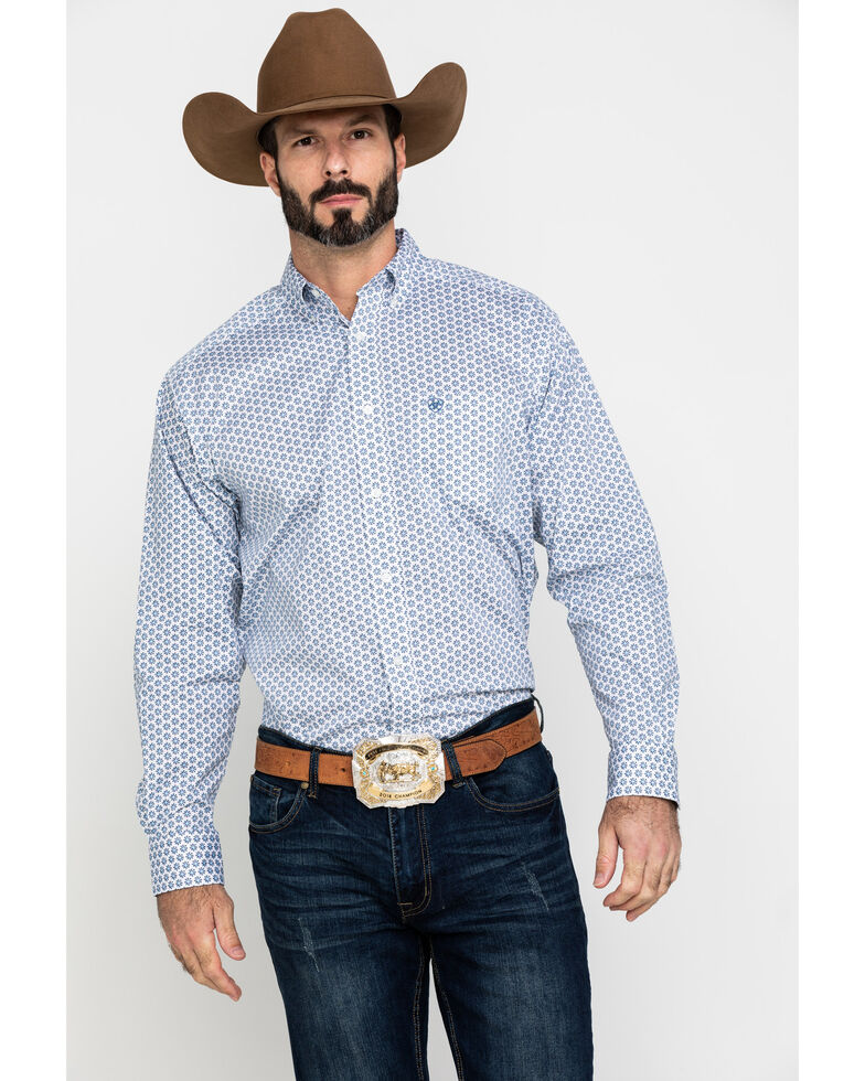 Ariat Men's Lamar Stretch Geo Print Long Sleeve Western Shirt - Tall , Multi, hi-res
