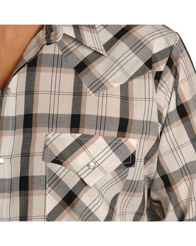 Ely Cattleman Men's Assorted Plaid or Stripe Long Sleeve Western Shirt, Plaid, hi-res
