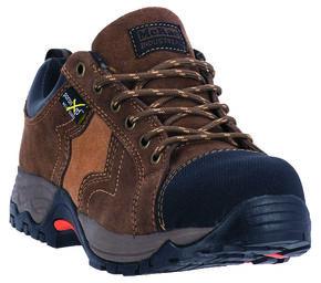 McRae Men's Low Cut Poron XRD Met Guard Work Boots - Composite Toe, Brown, hi-res