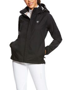Ariat Women's Black Packable Waterproof Jacket, Black, hi-res