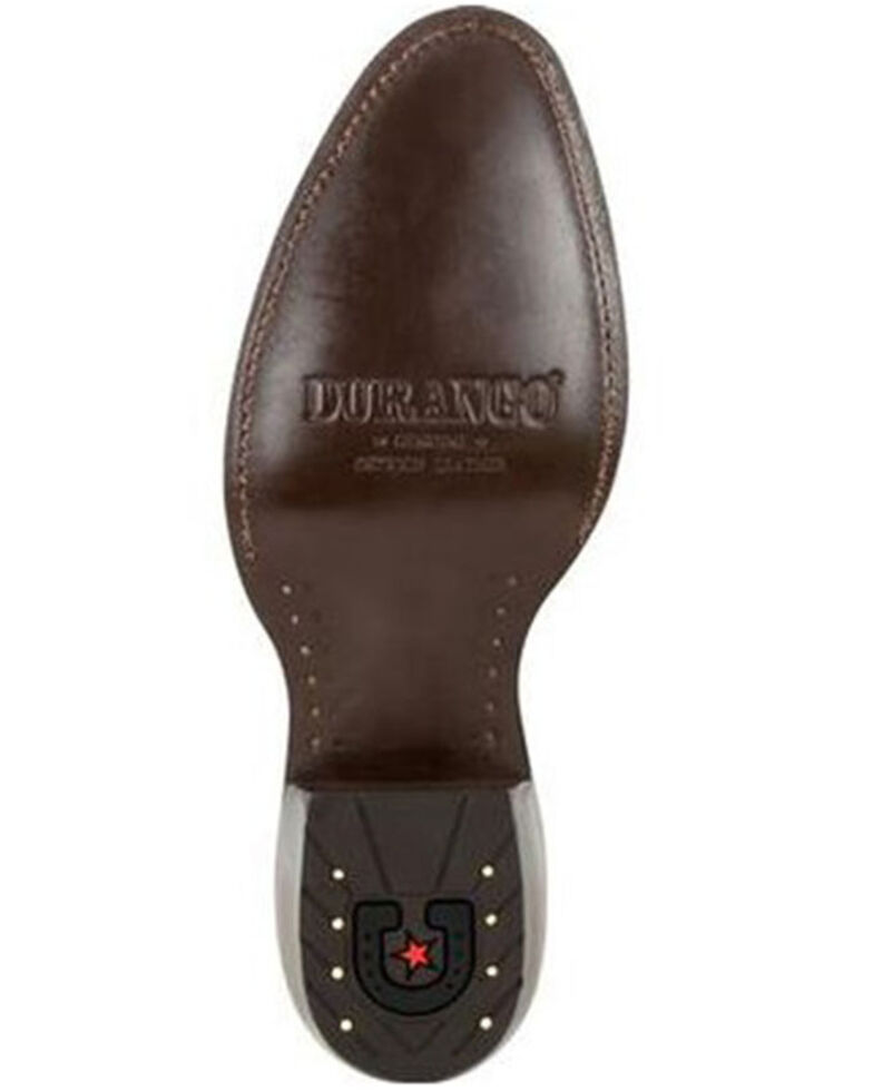 Durango Men's Exotic Full-Quill Ostrich Western Boots - Round Toe, Brown, hi-res
