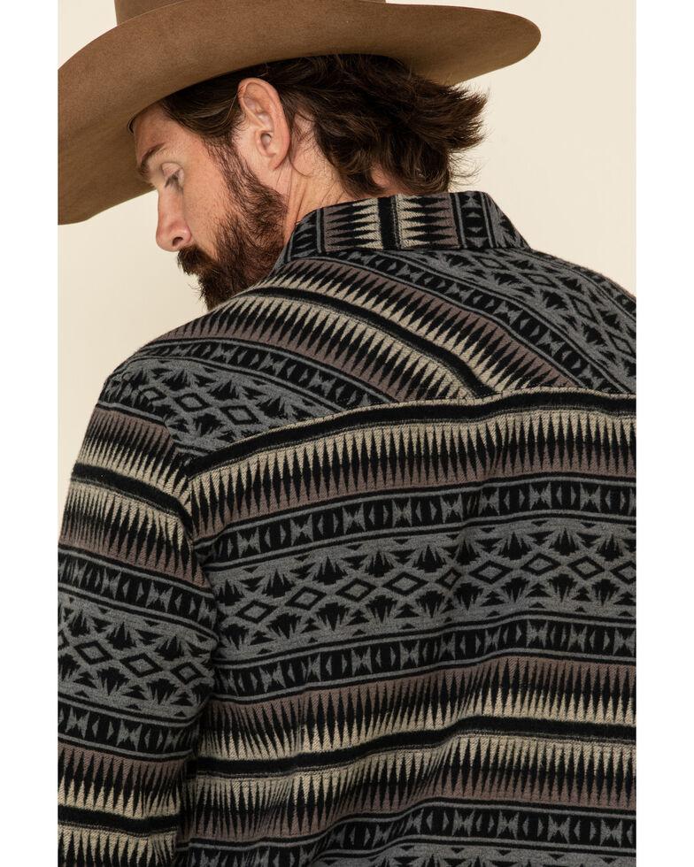 Rock & Roll Denim Men's Jacquard Aztec Border Jacket , Grey, hi-res
