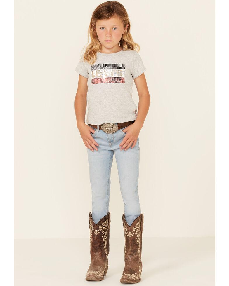 Levi's Girls' 711 Sidetrack Light Wash Skinny Fit Jeans , Light Blue, hi-res