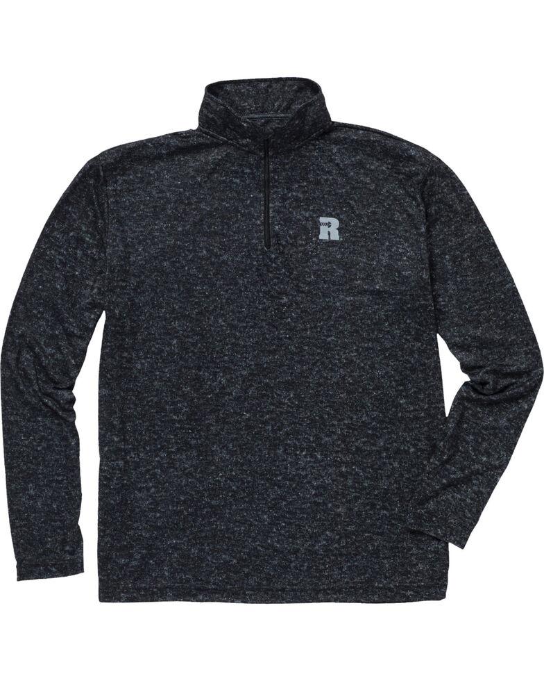 Wrangler Men's Olive Riggs Workwear 1/4 Zip Pullover Shirt - Big & Tall , Jet Black, hi-res