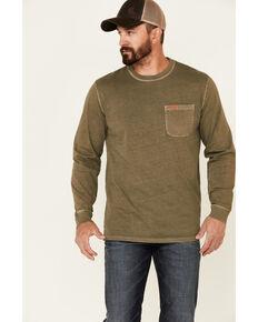 Pendleton Men's Solid Olive Deschutes Long Sleeve Pocket T-Shirt , Olive, hi-res