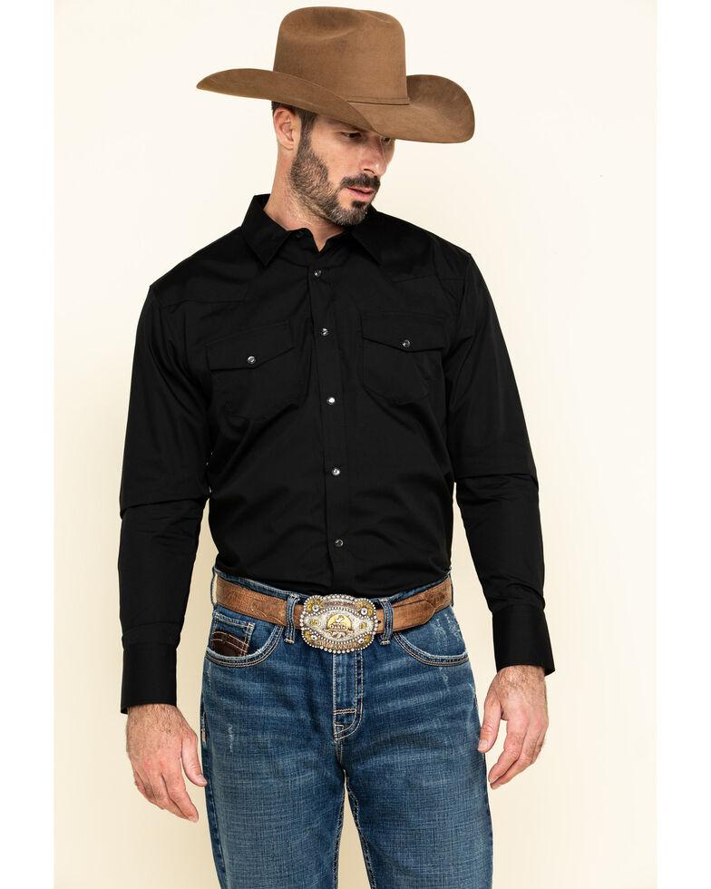 Gibson Trading Co. Men's Black Lava Long Sleeve Snap Shirt - Tall, Black, hi-res