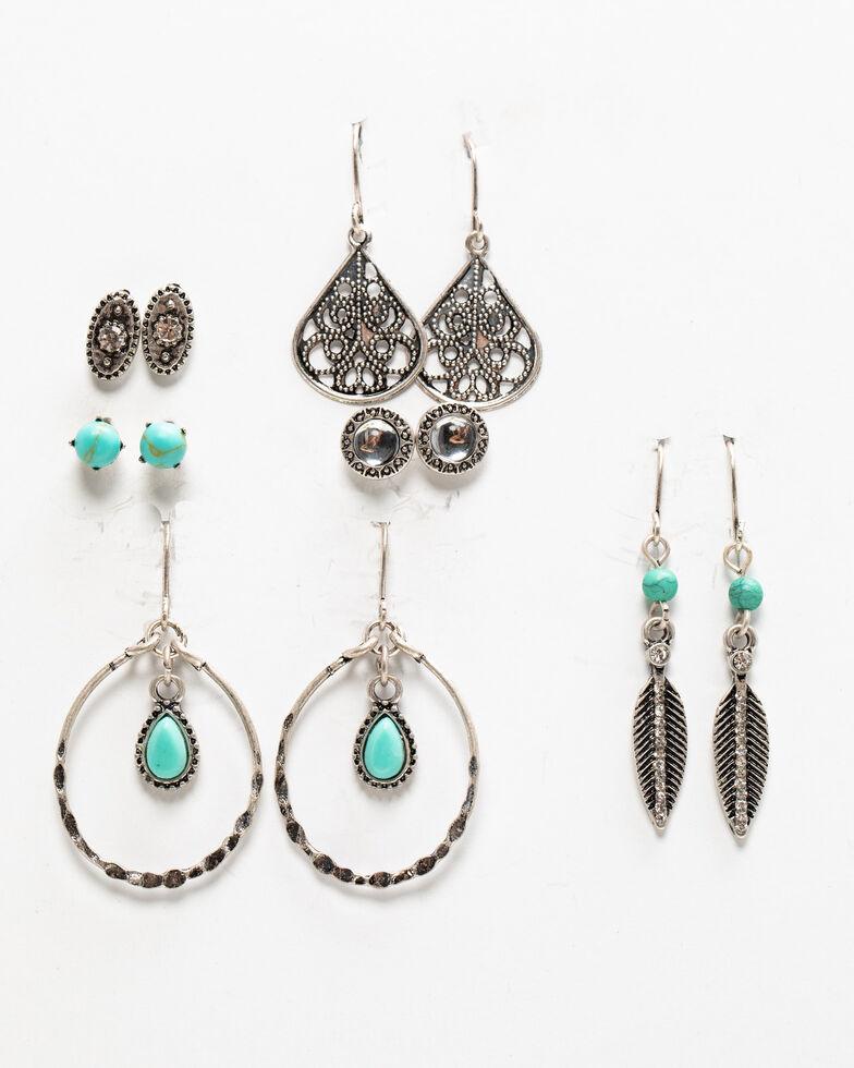 Shyanne Women's Autumn 6 Piece Earring Set, Silver, hi-res