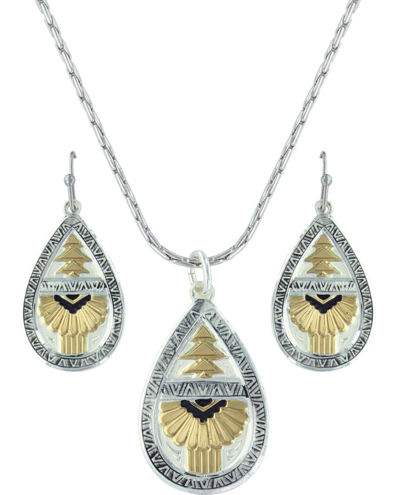 Montana Silversmiths Women's Southern Rays Of Light Jewelry Set , Silver, hi-res