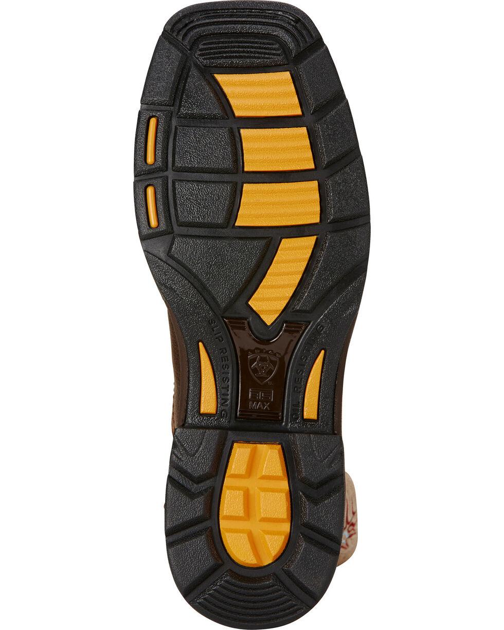 Ariat Brown Workhog Mesteno II Cowboy Work Boots - Soft Square Toe, Brown, hi-res