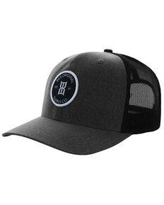 Bex Men's Bosc Circle Logo Patch Mesh-Back Trucker Cap , Black, hi-res
