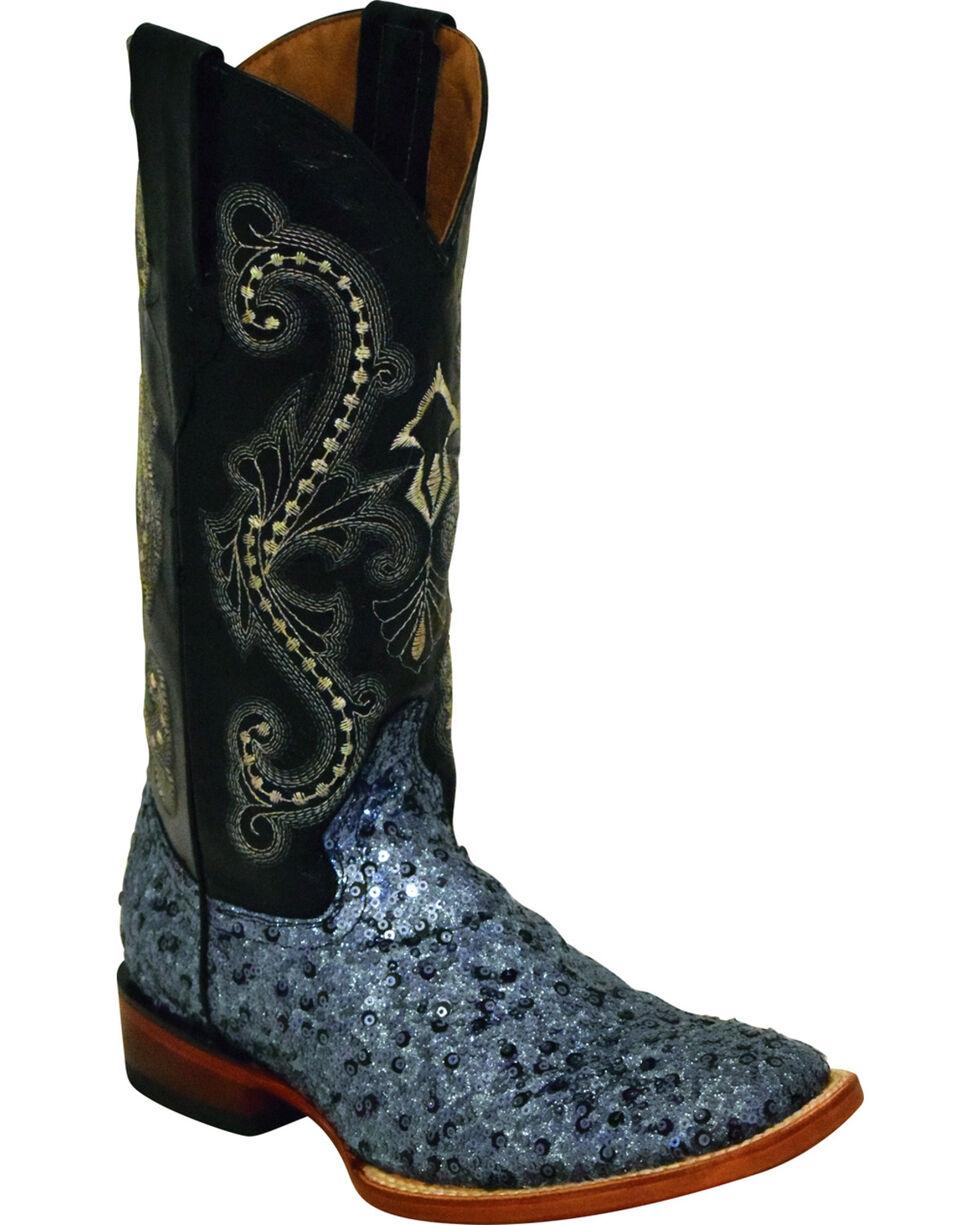 Ferrini Women's Sparkle Slate Sequin Cowgirl Boots - Square Toe, , hi-res