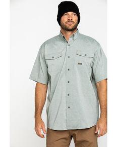 Ariat Men's Olive Rebar Made Tough Durastretch Vent Short Sleeve Work Shirt - Tall , Heather Grey, hi-res