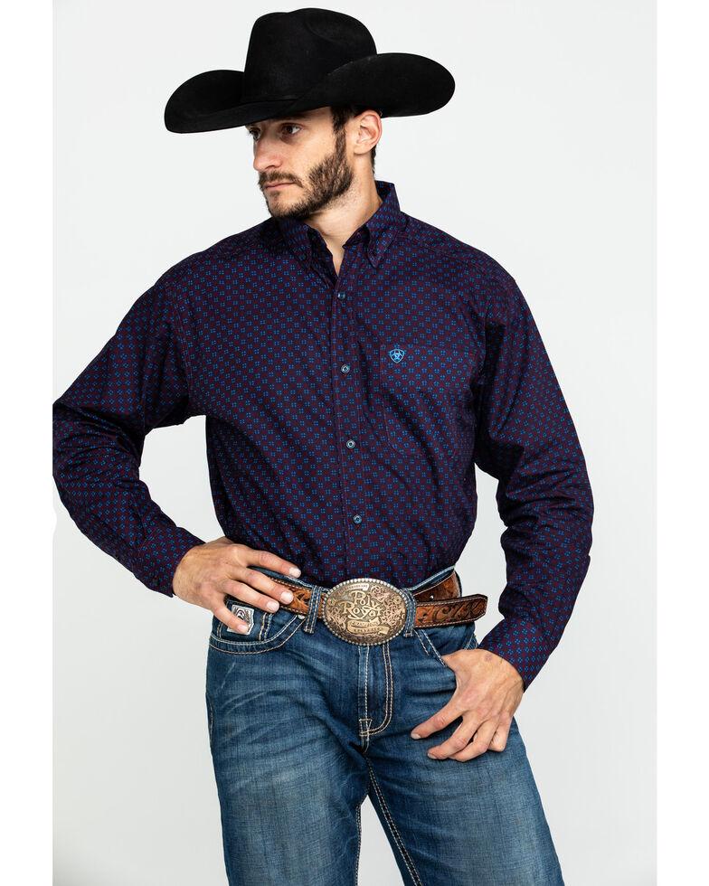 Ariat Men's Tankson Stretch Geo Print Long Sleeve Western Shirt , Multi, hi-res