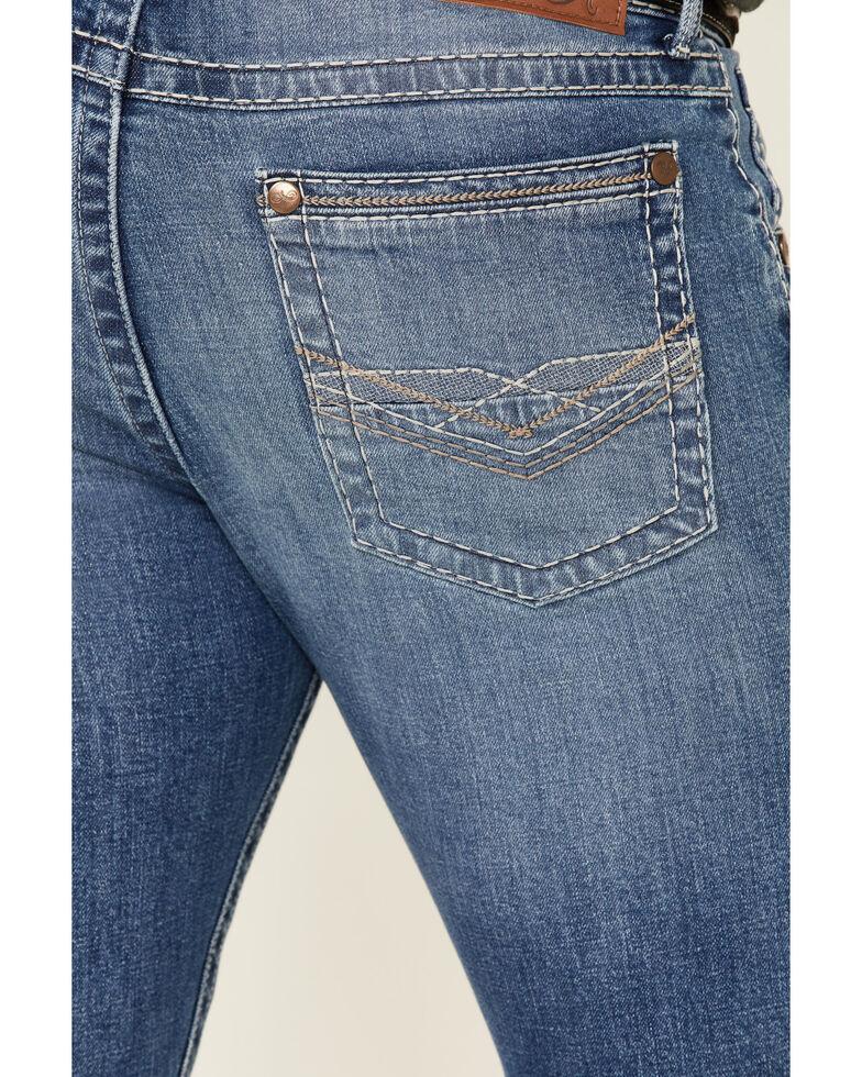 Rock 47 By Wrangler Men's Rockabilly Stretch Slim Bootcut Jeans , Blue, hi-res