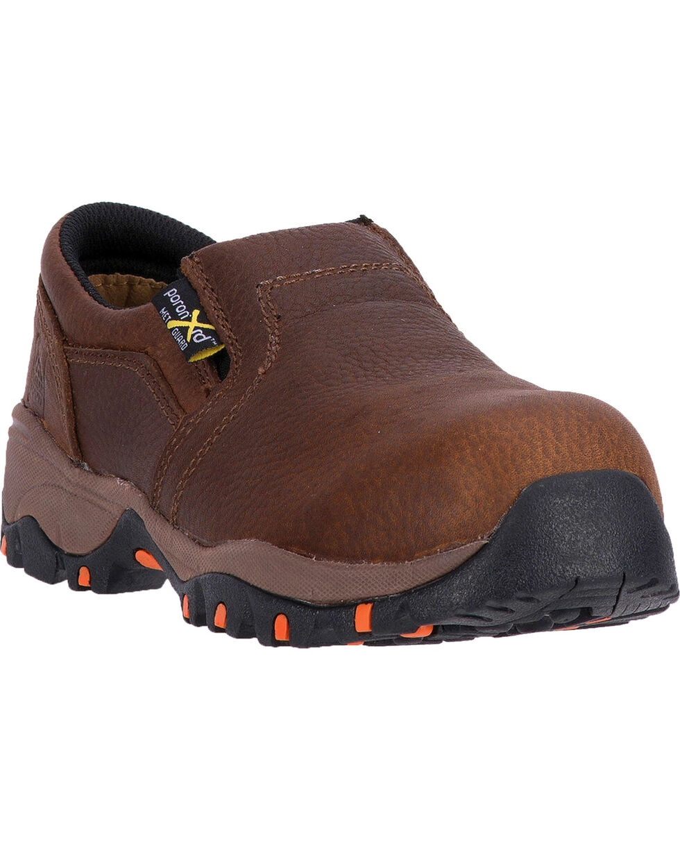 McRae Women's Brown MetGuard Slip-On Work Shoes - Composite Toe, Brown, hi-res
