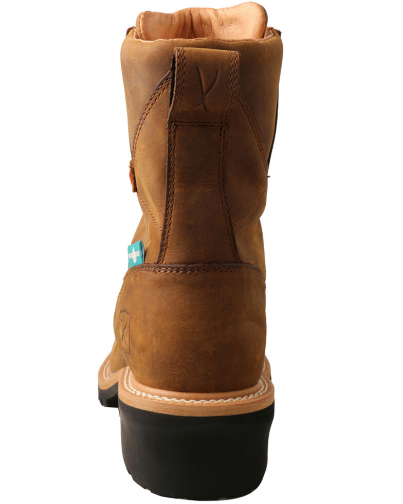 Twisted X men's Brown Logger Boots - Composite Toe, Brown, hi-res