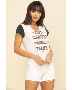 Shyanne Women's Just Country Music Raglan Shirt, Ivory, hi-res
