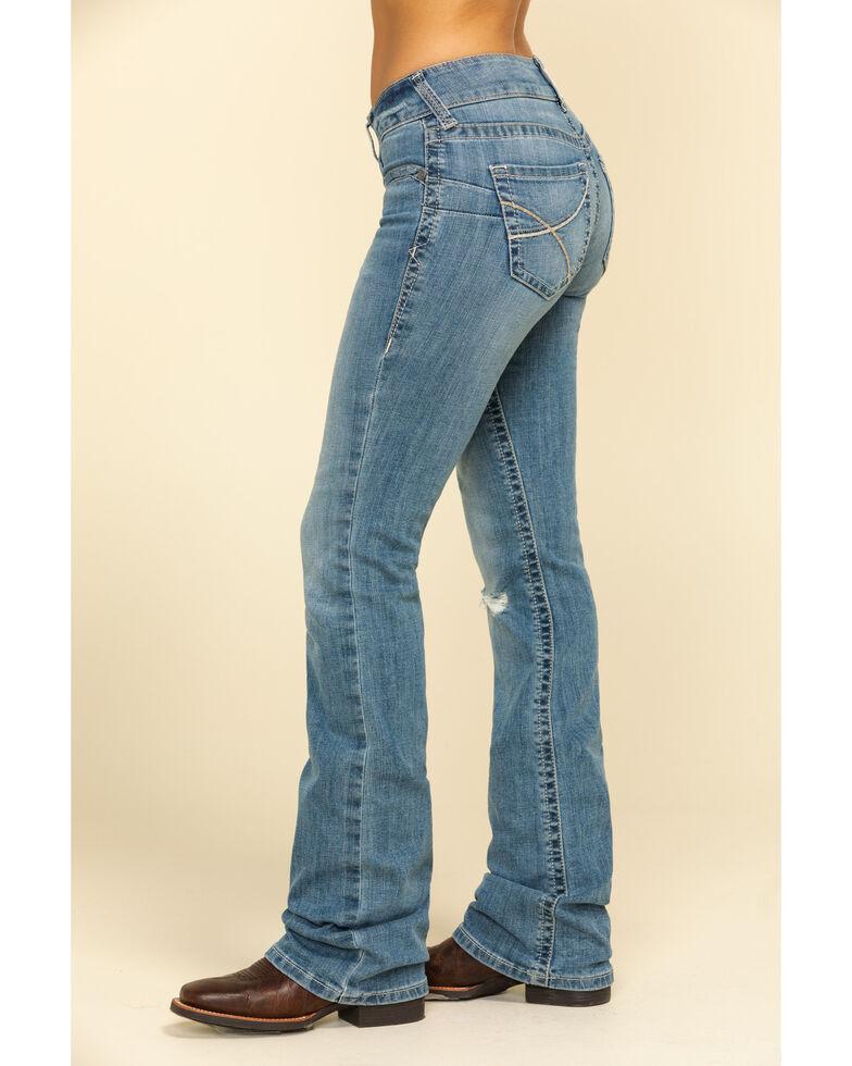 Ariat Women's R.E.A.L. Rookie Light Wash Bootcut Jeans , Blue, hi-res