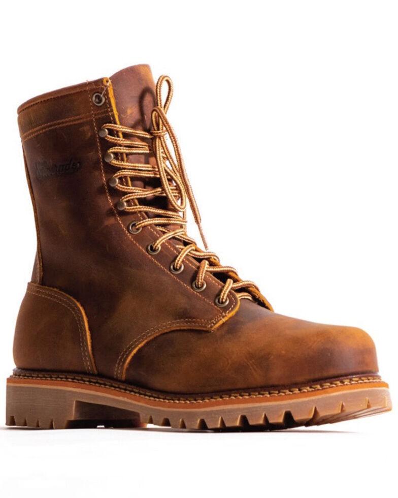 """Silverado Men's 8"""" Lace-Up Work Boots - Soft Toe, Tan, hi-res"""