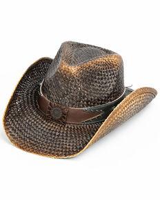 Shyanne Women's Kotal Fashion Straw Hat , Dark Brown, hi-res