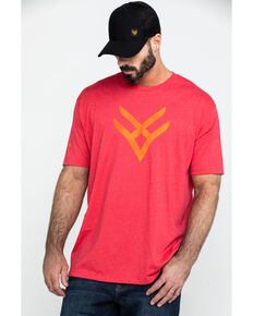 Hawx® Men's Red Logo Graphic Work T-Shirt , Heather Red, hi-res