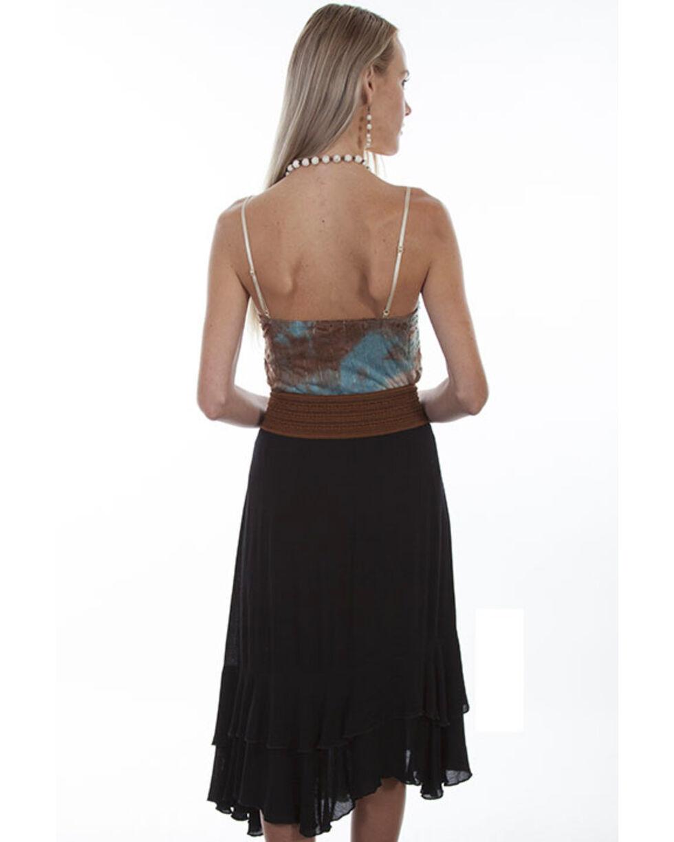 Honey Creek by Scully Women's Black Crochet Belt Maxi Skirt , Black, hi-res