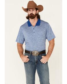 Cody James Core Men's Blue Bogey Stripe Short Sleeve Polo Shirt, Blue, hi-res