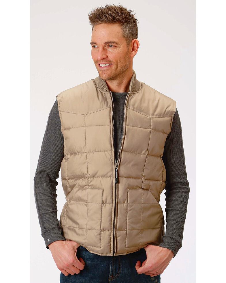 Roper Men's Rangegear Insulated Vest, Brown, hi-res
