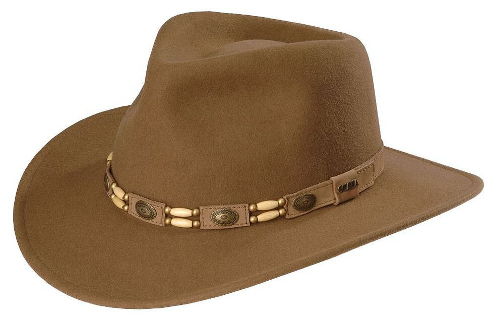 Scala Tracker Wool Outback Hat, Pecan, hi-res