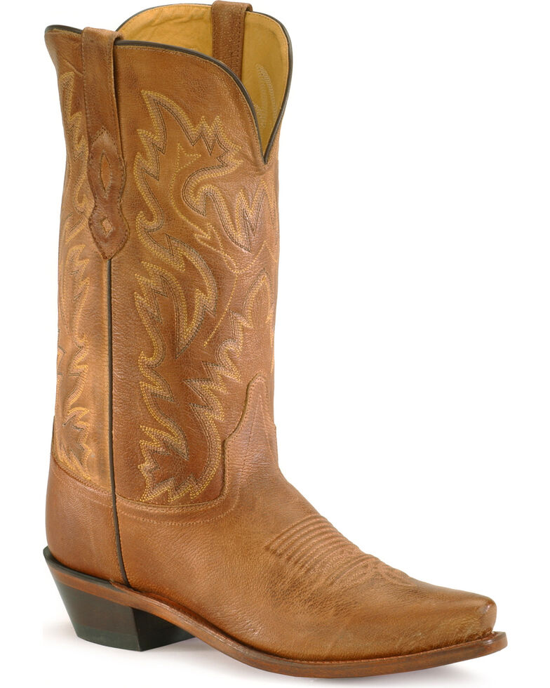 Old West Contemporary Cowboy Boots, Tan, hi-res